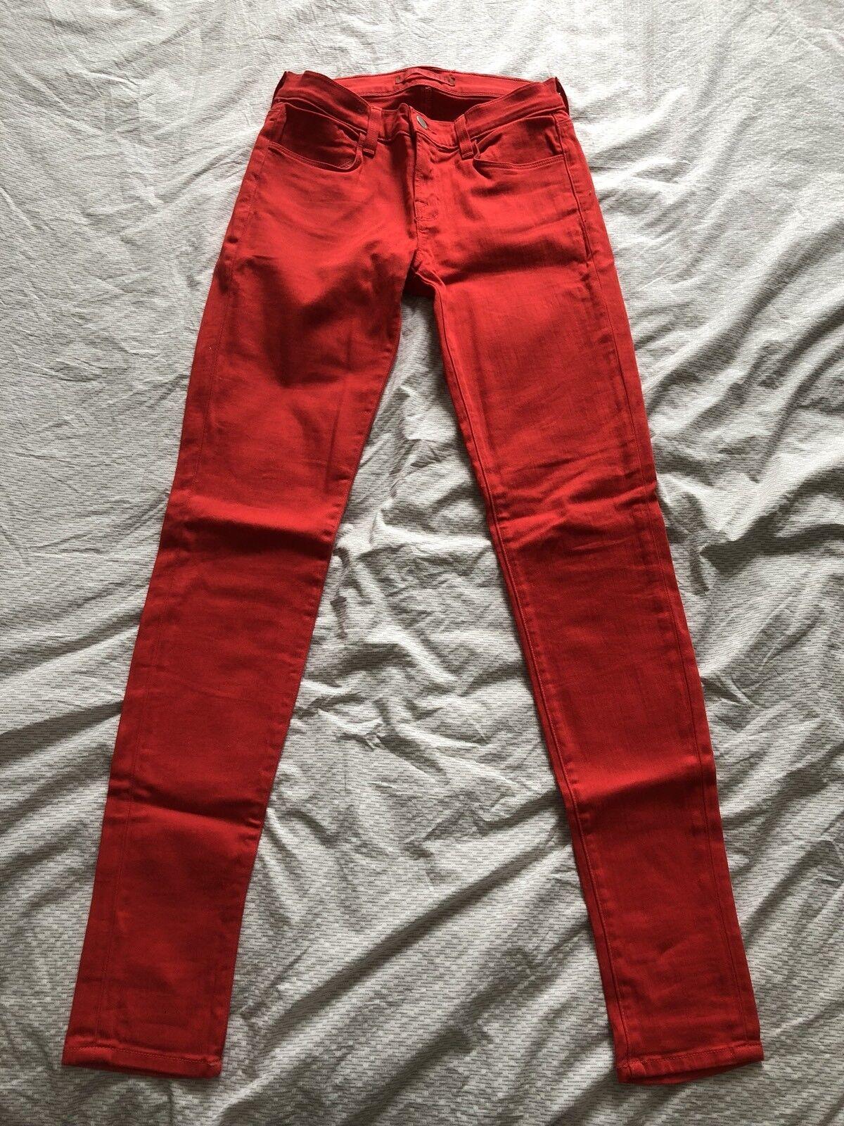 J Brand Red Denim Jeans Hot Pants