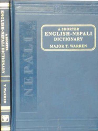 A Shorter English Nepali Dictionary T. Warren Hardcover