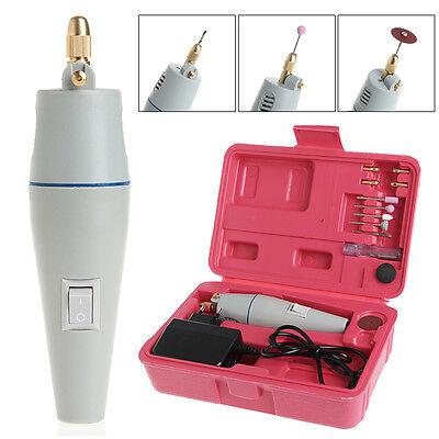 Pro AC 220V Mini Super Electric Drill Electric Grinder Set + Power Adapter EU