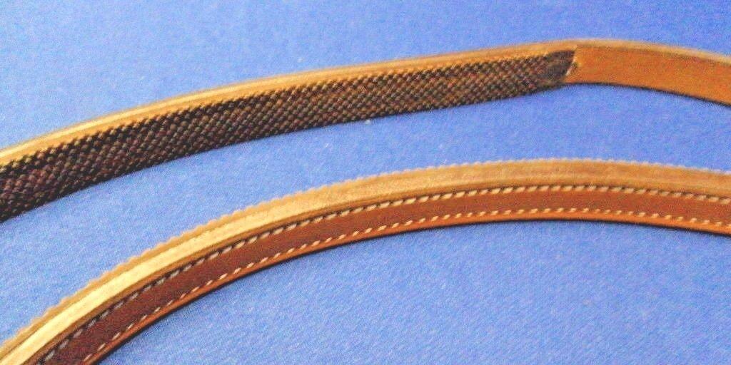 Leder Flat Semi-Rubber Reins   Reins 56