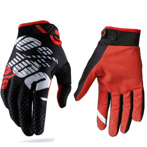 100 Percent Ridefit Gloves Motocross BMX MTB Downhill Extreme Full Finger Sports
