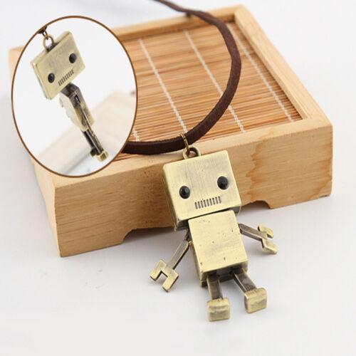 La Corée Rétro Robot Sweater Chain Length CARICATURE exagérée collier