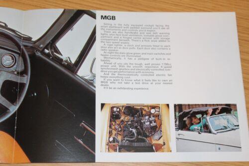 MGB MGB GT 1979 Gamma MG A COLORI BROCHURE DI VENDITA MG MIDGET