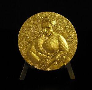 034-the-Lullaby-034-Vincent-Van-Gogh-Medal-of-1978-Bronze-Gold-104g-Medal