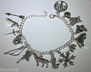Image Is Loading Once Upon A Time Bracelet 15 Charms Symbols