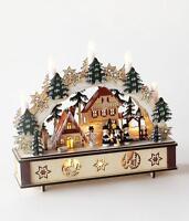 180 Degrees Bavarian Star Base Tree Arch Wood Christmas Village Lighted Scene