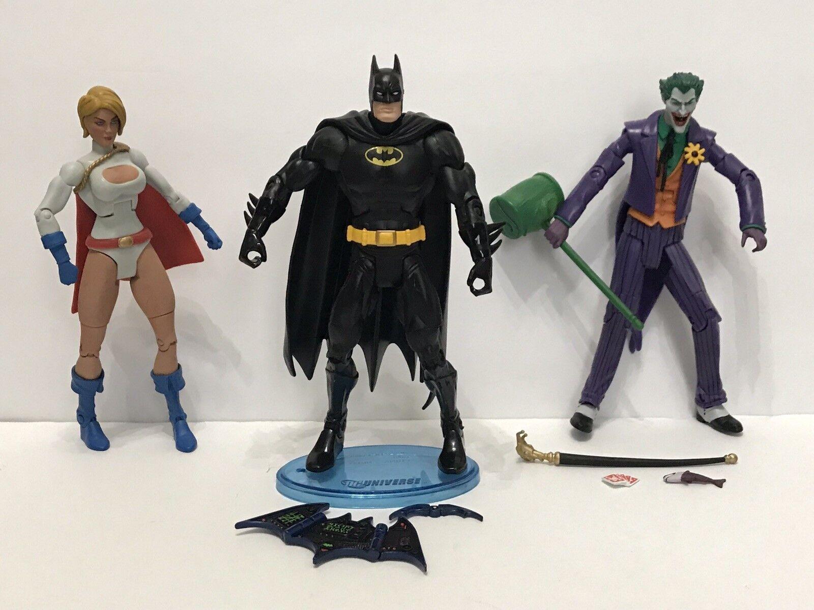 JOKER BATMAN POWER GIRL Lot Of 3 DC Universe Classics Figure Wave 10 Complete