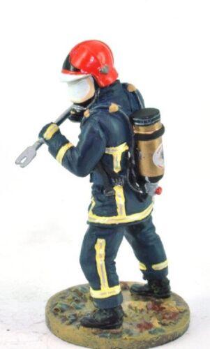 "Firefighter Figurine Fireman France 2004 Metal Del Prado 1//32 2.75/"""