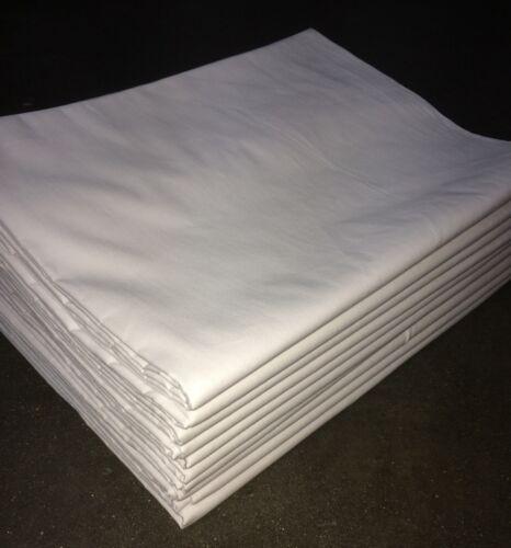 5x Bettlaken 150x250 cm 140 g//m²  weiß Baumwolle *Hotel-Qualität* ohne Gummi