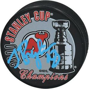 Sergei-Brylin-New-Jersey-Devils-Signed-2000-Stanley-Cup-Champs-Logo-Hockey-Puck