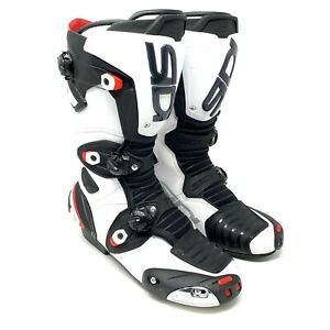 SIDI-Mag-1-Men-039-s-Size-7-5-White-Black-Motorcycle-ATV-MotorCross-Boots
