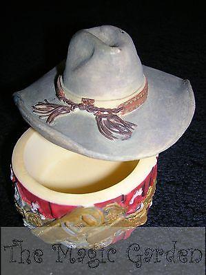 Cowboy hat trinket box craft latex molds/moulds