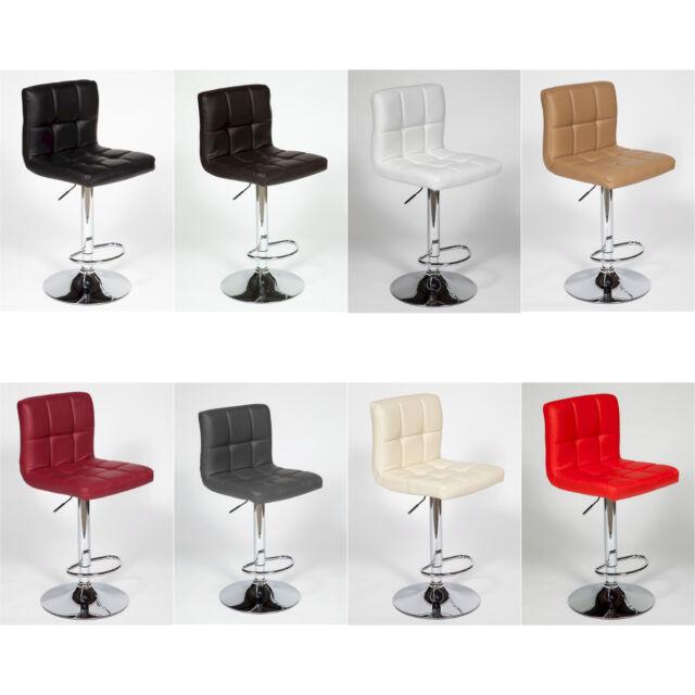 """4 Modern Adjustable """"Leather"""" Swivel Pub Style Bar Stools / Barstools #697"""