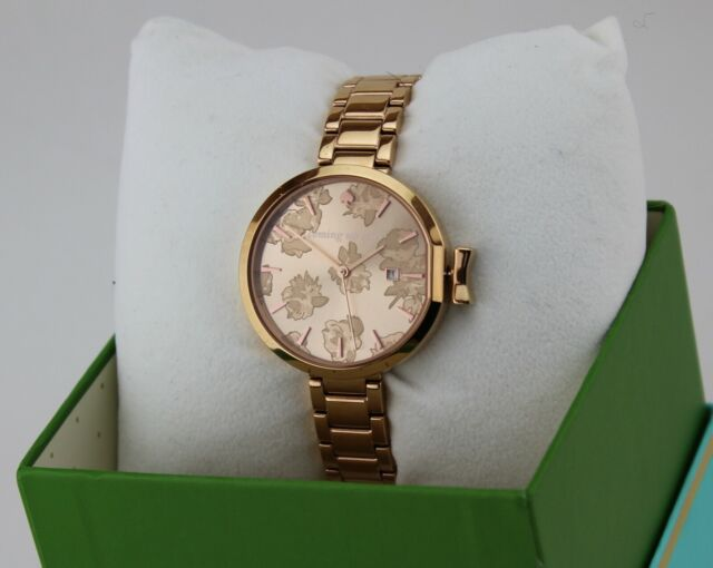 Watch Rose Authentic Ksw1397 Roses Spade Kate Floral Row Women's Park Gold New m08wNnv