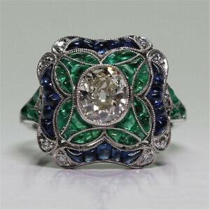 Huge-Sapphire-925-Silver-Ring-Women-Jewelry-Wedding-Engagement-Gift-Sz-6-10