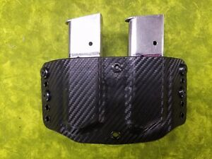 LOOK SUPER NICE RIGHT REGULAR BLACK KYDEX TRIPLE MAG HOLSTER TRULY HAND FITTED