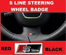 S Line Volante Adesivo Stemma Emblema Audi Nero A3 A4 A5 A6 S4 S5 S6 ROSSO