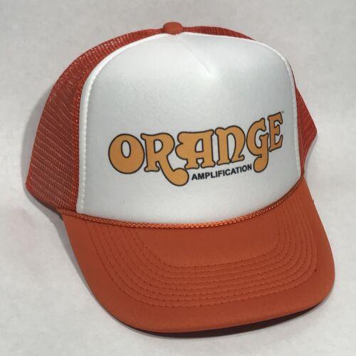 Orange Amplifier Trucker Hat Vintage Guitar Amp Music Band Bass Snapback Cap