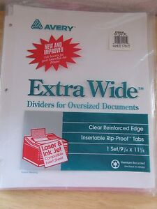 Avery-Dennison-Ave-11221-Worksaver-Extra-Wide-Big-Tab-Divider-5-Tabs-4-Sets