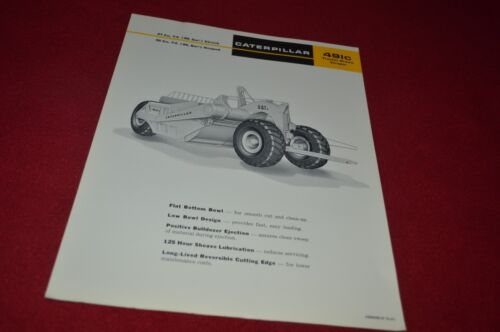 Caterpillar 491C Tractor Drawn Scraper Pan Dealer/'s Brochure DCPA6 ver3