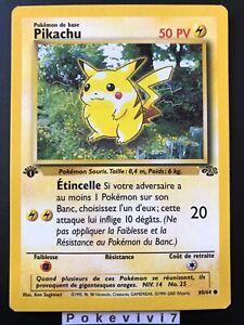 Carte-Pokemon-PIKACHU-60-64-Commune-Jungle-Wizard-EDITION-1-FR-NEUF