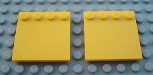 New LEGO Lot of 2 Black 4x4 Edge Stud Tile Pieces