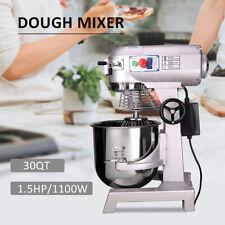 Dough Food Mixer 30 Qt 15hp1100w 3 Speed 7kg Capacity Multifunction Blender Sw