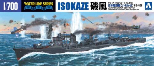 1945 IJN Japan Navy Destroyer Isokaze Zerstörer 1:700 Model Kit Aoshima 037799
