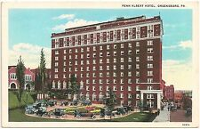 Penn Albert Hotel in Greensburg PA Postcard