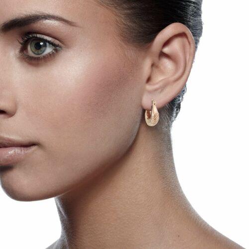 New Rose Gold Filled Women Jewlery Small Little Huggie Earrings Gifts 082UKTOG