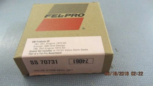 Fel-Pro SS70731 Engine Valve Stem Seal Set L@@K Free Shipping!!!!