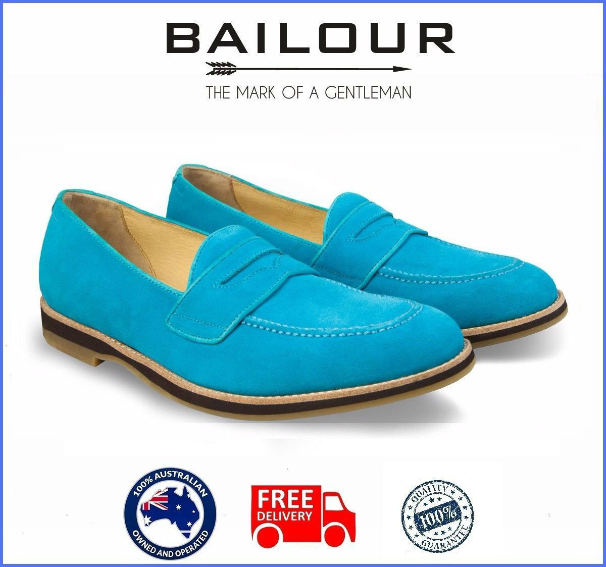 Men's Formal And Casual Deep Sky bluee  shoes Loafers Handmade High Quality