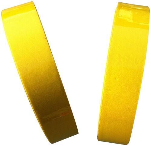 Ruban Réfléchissant Haut Visibilité Jaune Citron 25mm x 25M Résistant Intempérie