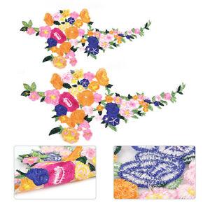 Bunt-Blume-AufnAher-Gestickt-Patch-Abzeichen-nAhen-AufnAherbild-Kleid-Deko-DIY