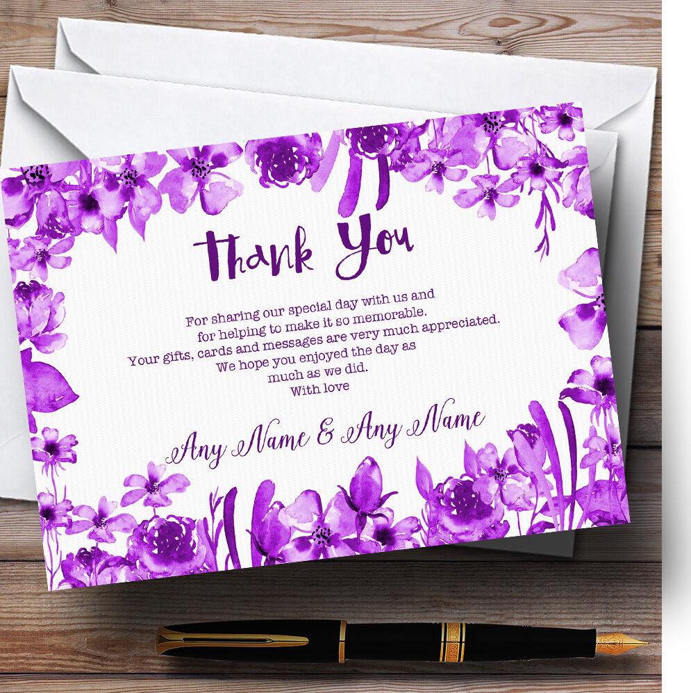 Acquerello Matrimonio Indigo Cadbury Viola Floreale Matrimonio Acquerello Personalizzati Ringraziamenti ffebbe