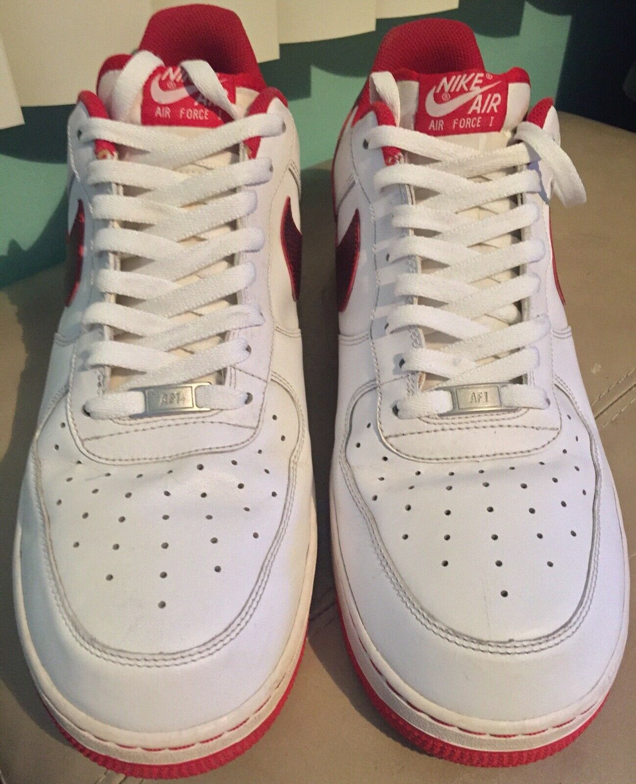 Nike Air Force 1 White University Red Size 15
