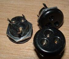 5 X Lee Belling l1436b/s Miniatura 3 Pin Vintage Red Eléctrica Socket