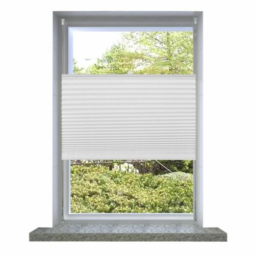 Pleated Plisse Blinds for Window White Easy Fit Install Conservatory Many Sizes