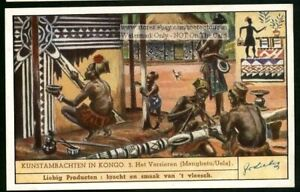 Africa-Congo-Art-Painting-Carvings-75-Y-O-Trade-Ad-Card