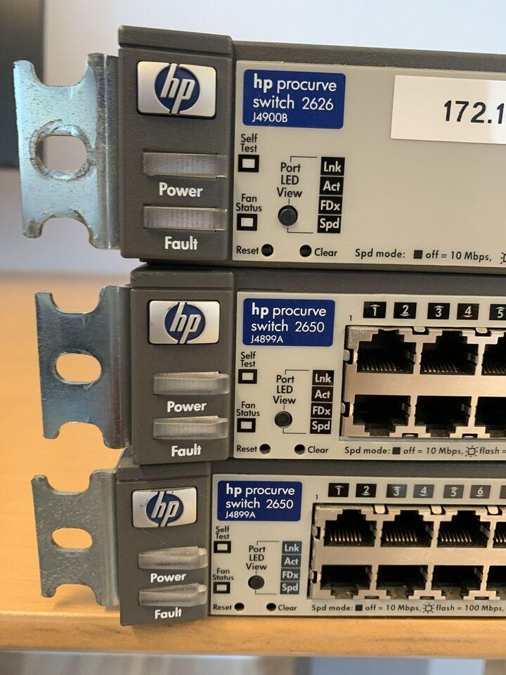 Switch, HP Procurve, Rimelig