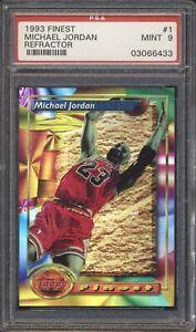 03066433 Michael Jordan 1993 Topps Finest #1 Refractor PSA 9 MINT HOF GOAT Bulls
