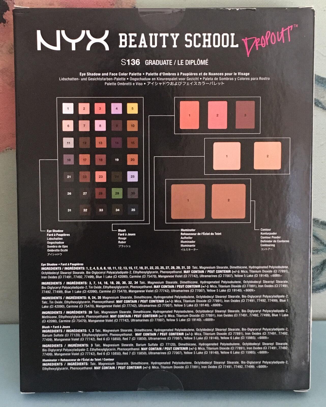Nyx Makeup Set Beauty School Dropout Palette Graduate S 136 Ebay