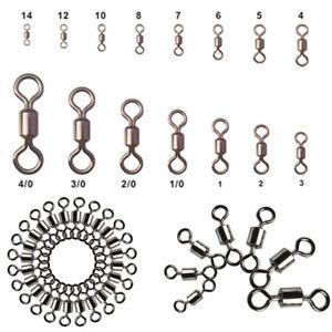 100Pcs-Fishing-Barrel-Bearing-Swivel-en-acier-inoxydable-solide-Anneau-Connecteur-LOTS