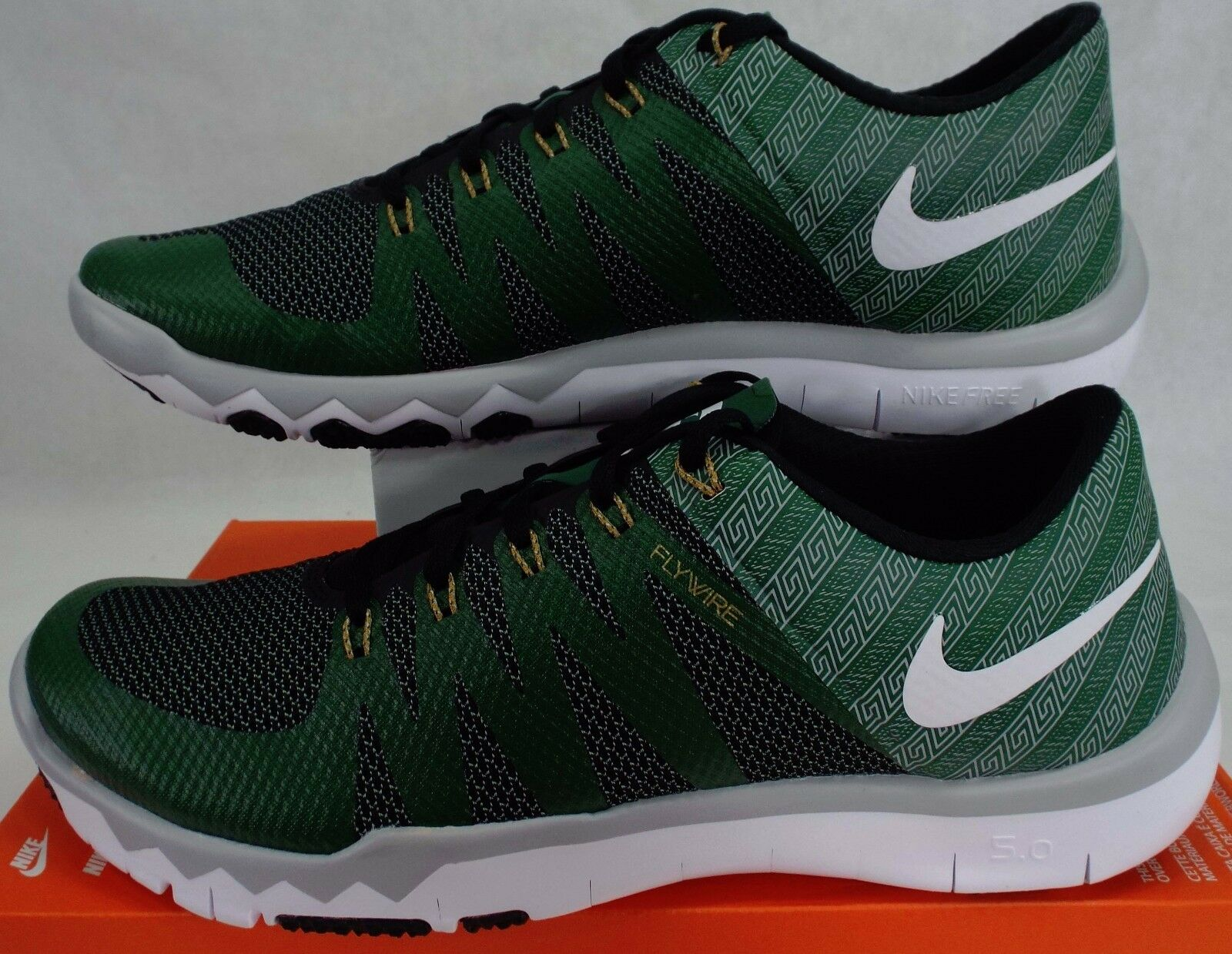 Comfortable and good-looking New Mens 8 NIKE Free Trainer 5.0 V6 AMP Michigan State Shoes Price reduction