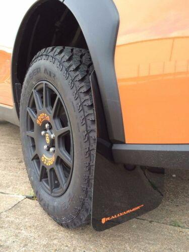 Rally Armor UR Mudflaps Black Urethane Grey Logo 2013-2017 Crosstrek XV