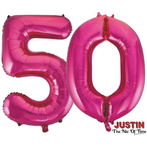 50th PINK Celebration Birthday Party Supplies Balloons Tableware /& Decorations
