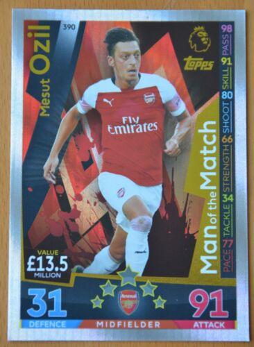 Match Attax 2018-2019 tarjetas Arsenal seleccione las tarjetas que usted necesita.