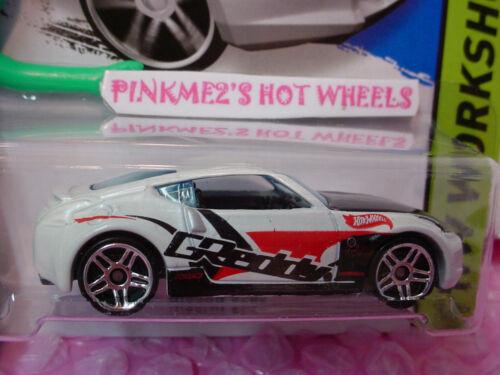 Case N 2014 Hot Wheels NISSAN 370Z #249 US✿White Pearl;pr5;CReddy✿HW Performance
