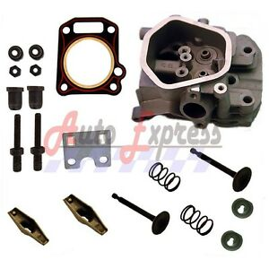 NEW-Honda-GX390-13HP-CYLINDER-HEAD-VALVES-amp-SPRINGS-GUIDE-PLATE-FREE-HEAD-GASKET