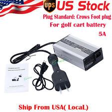 36 Volt Battery Charger Golf Cart For Ez Go Club Car DS TXT W/ Crows Foot plug